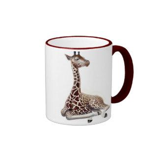 Young Giraffe Ringer Mug