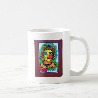 Young Girl  15 by Piliero Basic White Mug