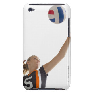 Young girl (16-17) playing volleyball iPod touch cases
