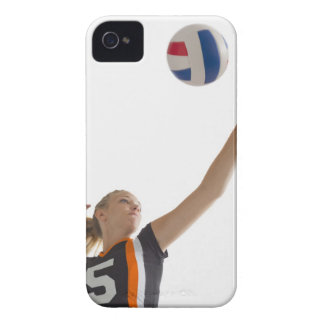 Young girl (16-17) playing volleyball iPhone 4 cases