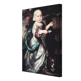 Young girl at a fountain, 1662 canvas print