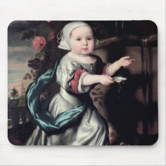 Young girl at a fountain, 1662 mouse mat