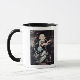 Young girl at a fountain, 1662 mug
