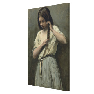 Young Girl at her Toilet Gallery Wrap Canvas