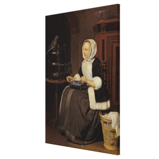 Young Girl at Work Canvas Print