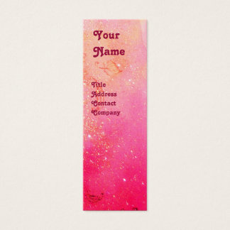 YOUNG GIRL BEAUTY FASHION Red Pink,Fuchsia White Mini Business Card