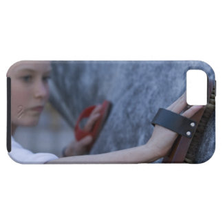 young girl brushing white horse 2 iPhone 5 cover