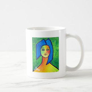 Young Girl by Piliero Basic White Mug