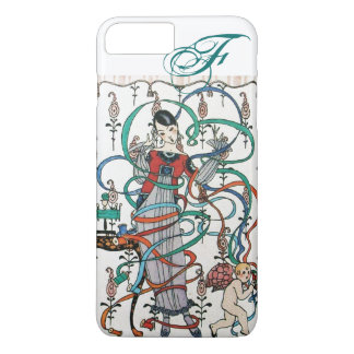 YOUNG GIRL ,COLORFUL RIBBON SWIRLS ,CUPID Monogram iPhone 7 Plus Case