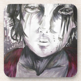 Young Girl Beverage Coasters
