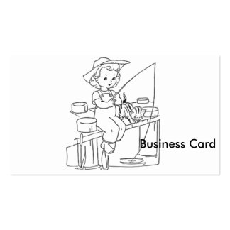 Young Girl Fishing Pack Of Standard Business Cards
