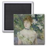 Young girl in a ball gown, 1879 fridge magnet