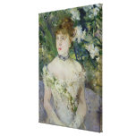 Young girl in a ball gown, 1879 stretched canvas print