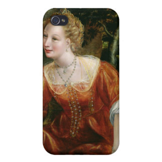 Young Girl in a Landscape iPhone 4 Case