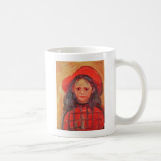 Young Girl in a Red Hat Coffee Mug