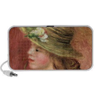 Young Girl in a Straw Hat, c.1908 Portable Speakers