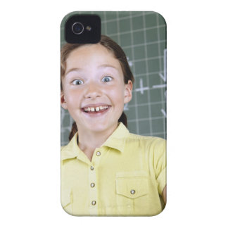 young girl in front of blackboard having idea iPhone 4 Case-Mate case