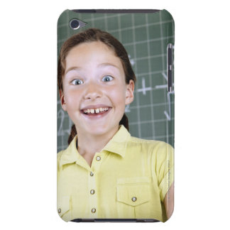 young girl in front of blackboard having idea iPod touch cases