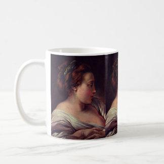 Young Girl Jeune fille by Francois Boucher Basic White Mug
