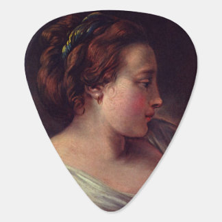 Young Girl Jeune fille by Francois Boucher Guitar Pick