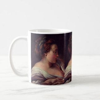 Young Girl Jeune fille by Francois Boucher Classic White Coffee Mug