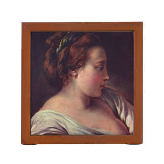 Young Girl Jeune fille by Francois Boucher Pencil Holder