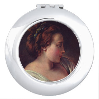 Young Girl Jeune fille by Francois Boucher Vanity Mirror