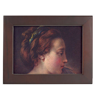 Young Girl Jeune fille by Francois Boucher Memory Boxes