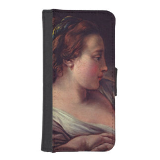Young Girl Jeune fille by Francois Boucher Phone Wallet
