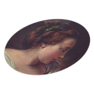 Young Girl Jeune fille by Francois Boucher Dinner Plate