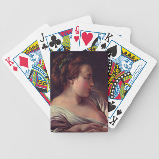 Young Girl Jeune fille by Francois Boucher Bicycle Card Deck