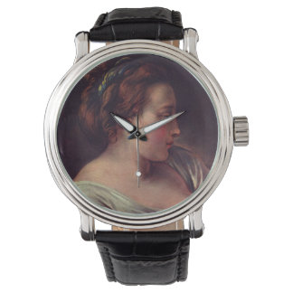 Young Girl Jeune fille by Francois Boucher Wristwatches