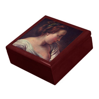 Young Girl Large Square Gift Box