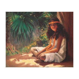 Young Girl Oil on Canvas Painting Wrapped Canvas Canvas Prints