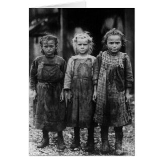 Young Girl Oyster Shuckers, early 1900s Card