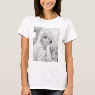 Young Girl Photo Print T-Shirt
