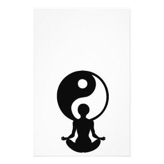 Young girl practicising yoga at front of Yin Yang Custom Flyer