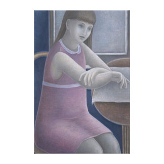 Young Girl Reading 2008 Canvas Print