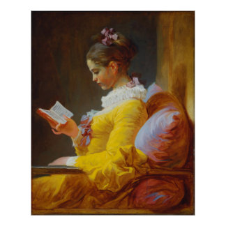 Young Girl Reading by Jean-Honore Fragonard Poster