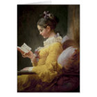 Young Girl Reading, c.1776 Card