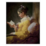 Young Girl Reading, c.1776 Print