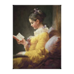 Young Girl Reading, c.1776 Stretched Canvas Print