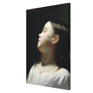 Young Girl Sleeping, 1852 Gallery Wrap Canvas