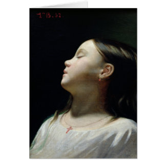 Young Girl Sleeping, 1852 Greeting Cards