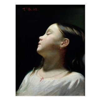 Young Girl Sleeping, 1852 Post Cards