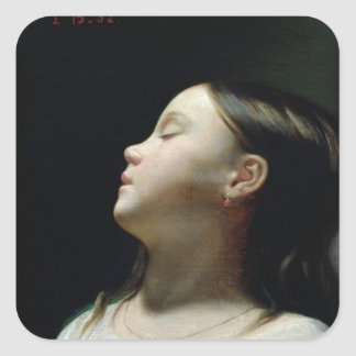 Young Girl Sleeping, 1852 Square Sticker