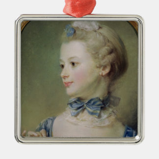 Young Girl with a Cat Christmas Ornament
