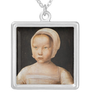 Young Girl with a Dead Bird, c.1500-25 Silver Plated Necklace
