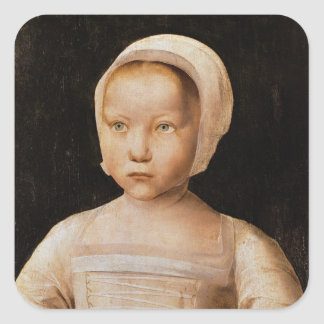 Young Girl with a Dead Bird, c.1500-25 Square Sticker