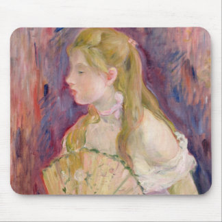 Young Girl with a Fan, 1893 Mouse Mat